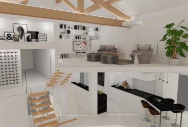 Maison avec jeu de volume - Décoration Issoire